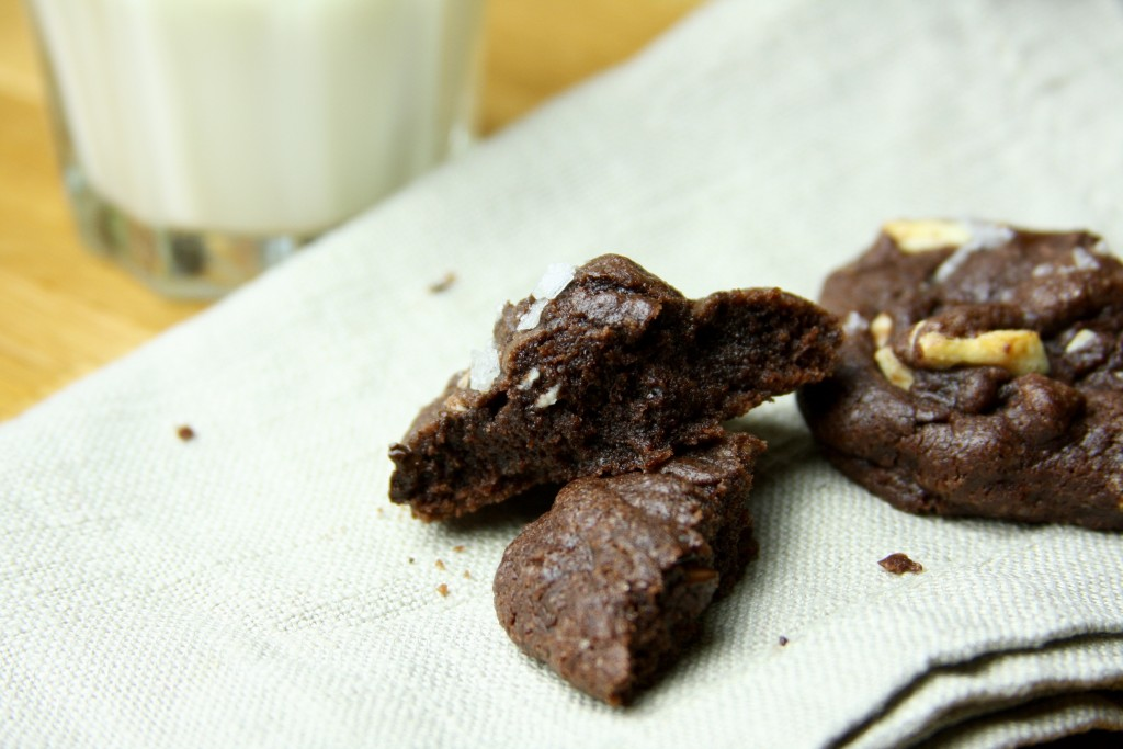 Rich triple chocolate cookies